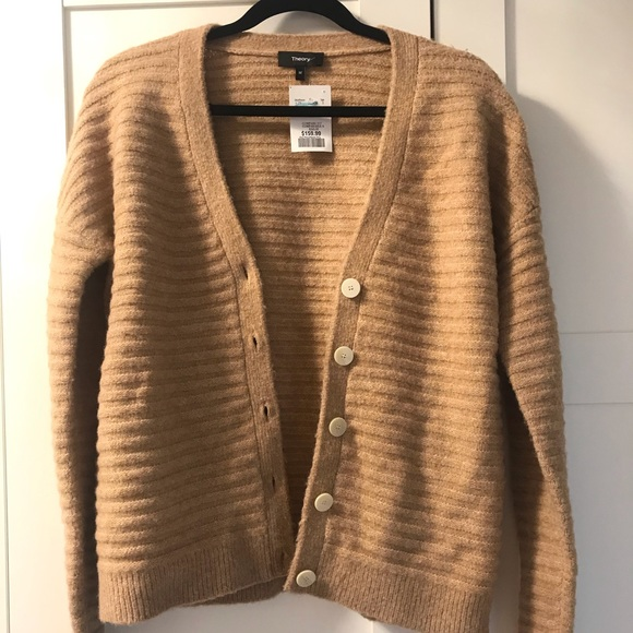 Brand New Theory Wool Cardigan in Camel Size M